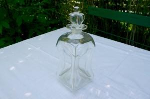 Antik dansk klukflaske, ca. 24 cm. høj med prop.