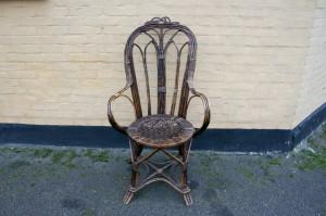 Fin antik kuvestol fletstol.