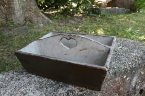 Antik bestik kasse originalt bemalet fra Hälsingland, ca. 26x20x8 cm.
