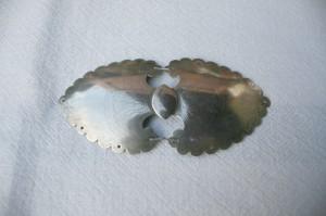 Antikt gammelt bæltespænde i sølv mærke LT