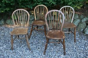 4 antikke engelske pub stole.