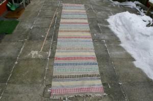 Swedish rag rug, # 220, 315x65 cm