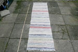 Kludetæppe nr. 234, 205x58 cm.,