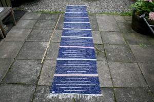 Kluedtæppe nr. 242, 325x61 cm.