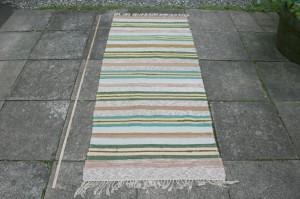 Kludetæppe nr. 248, ca. 190x82 cm.