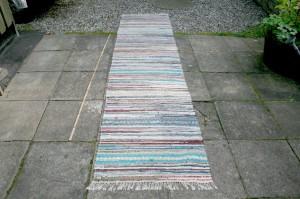 Kludetæppe nr. 259, ca. 320x77 cm.