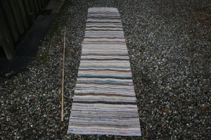 Kludetæppe nr. 271, ca. 300x66 cm.
