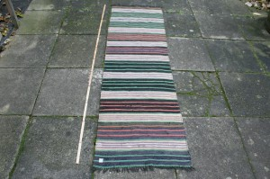 Kludetæppe nr. 291, ca. 198x58 cm.