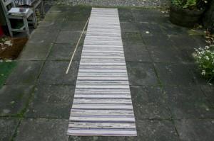 Kludetæppe nr. 293, ca. 355x62 cm.