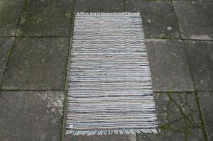 Kludetæppe nr. 296, ca. 105x63 cm.