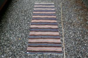 Kludetæppe nr. 310, ca. 190x67 cm. kludetæpper lange løber svenske brugte gamle