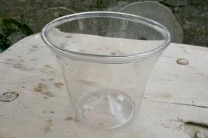 Antikt klart sylteglas fra 1800 start, 19,5 cm højt.