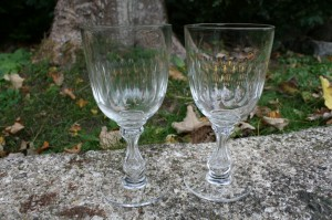 Antik vinglas Venus fra Holmegaard/Kastrup glasværk, der er 9 stk., ca. 16,8 - 17 cm. høje.