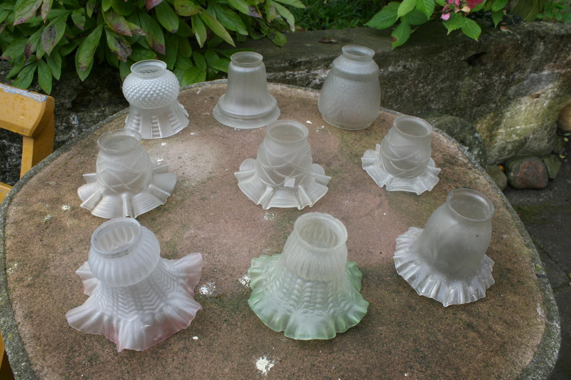 Div. små lampeglas / skærme fra Fyens glasværk.