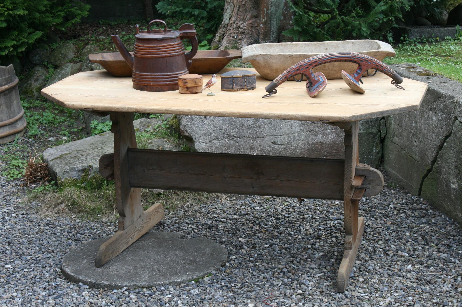 antik svensk langbord fra dalerne 170x90 cm
