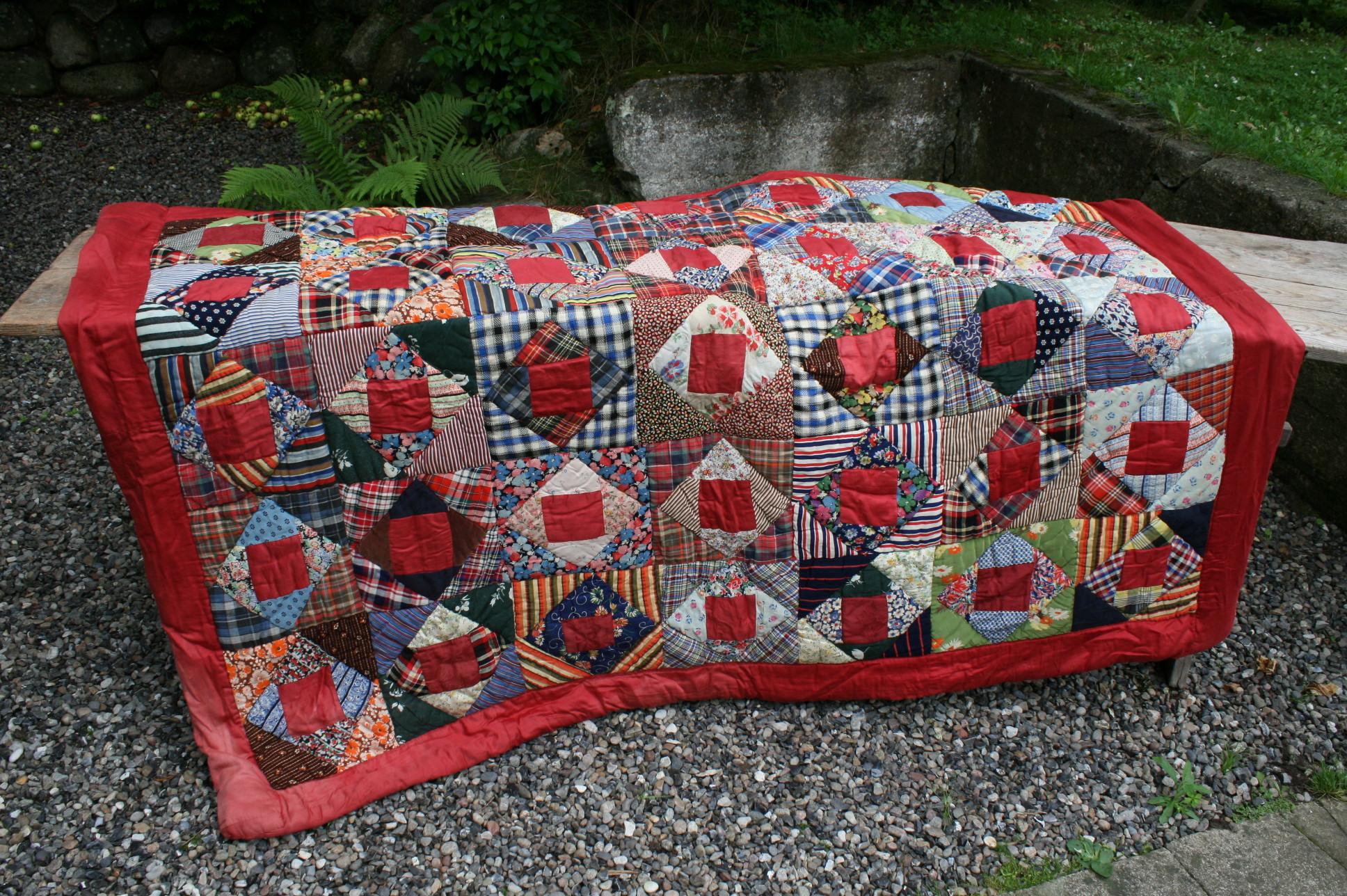 Antikt Svensk laptakke patchwork