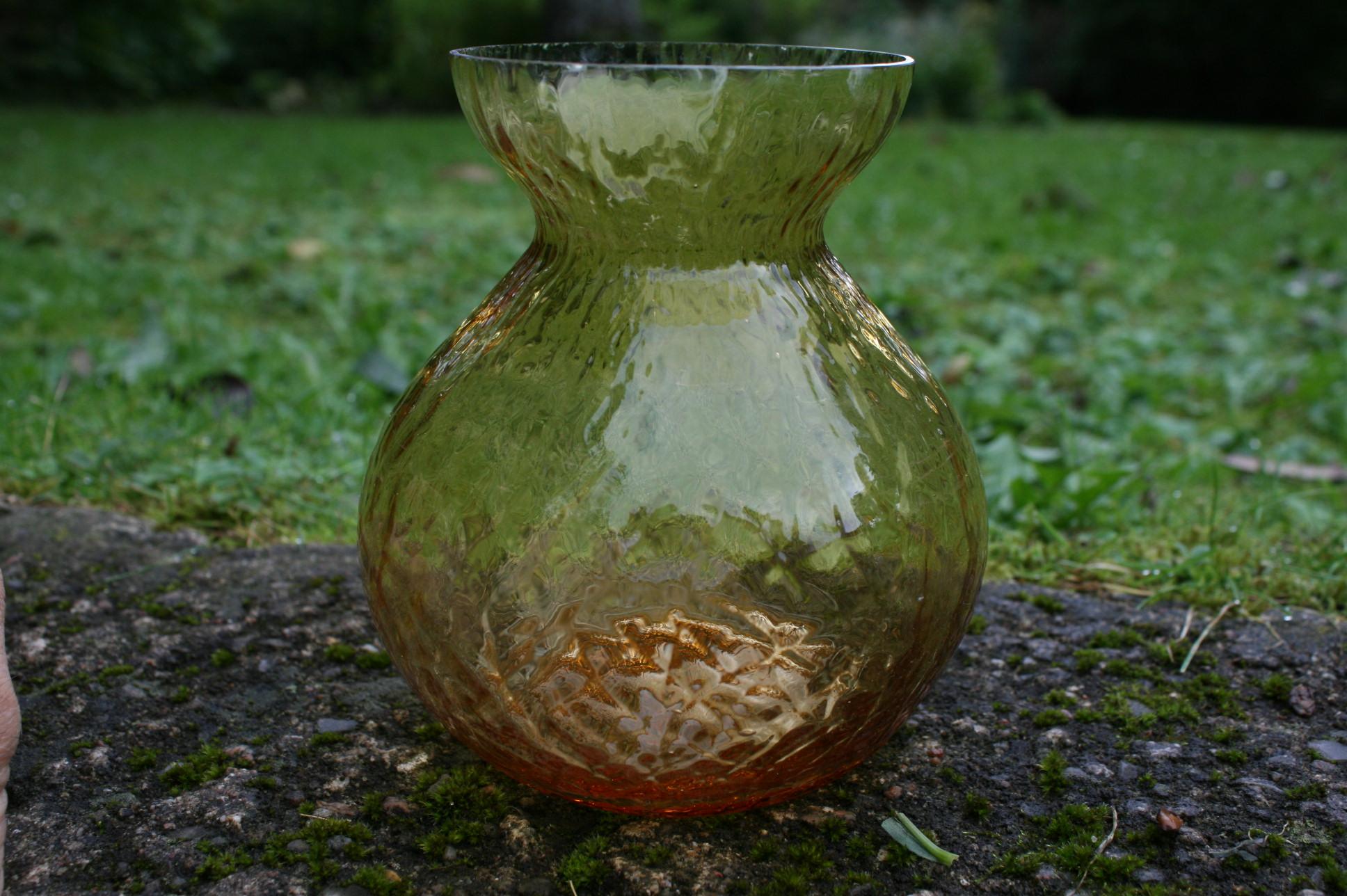 Hyacintglas ravfarvet fyens glasværk.