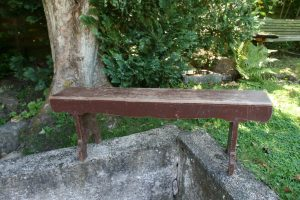 Lille antik bænk bemalet, ca. 104x20x35 cm.
