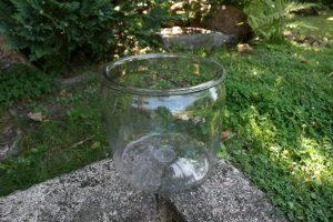 Antikt stort kraftigt sylteglas, ca. 24 cm. højt og Ø 26 cm.