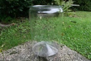 Stort antikt sylteglas klart, ca. 25,5 cm. højt og Ø 19 cm.