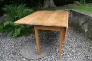 Fint stort antikt klapbord / køkken klapbord, ca.119x119 cm