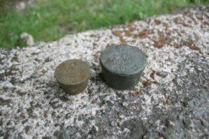Gammelt 50 quint lod og 50 gram lod