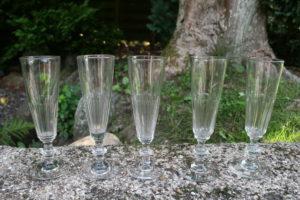 Antikke champagne fløjter