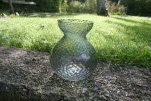 Gammelt hyacintglas fra fyens glasværk.