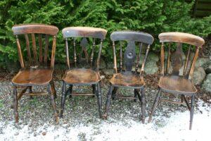 4 Engelske køkkenstole / pub stole.