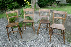 4 antikke engelske spisestue stole