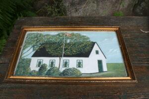 Dansk maleri af husmandsted.