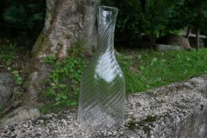 Antik vand karaffel snoet fra sverige 1800 tallets mitte, ca. 26 cm høj og 13 cm i Ø.